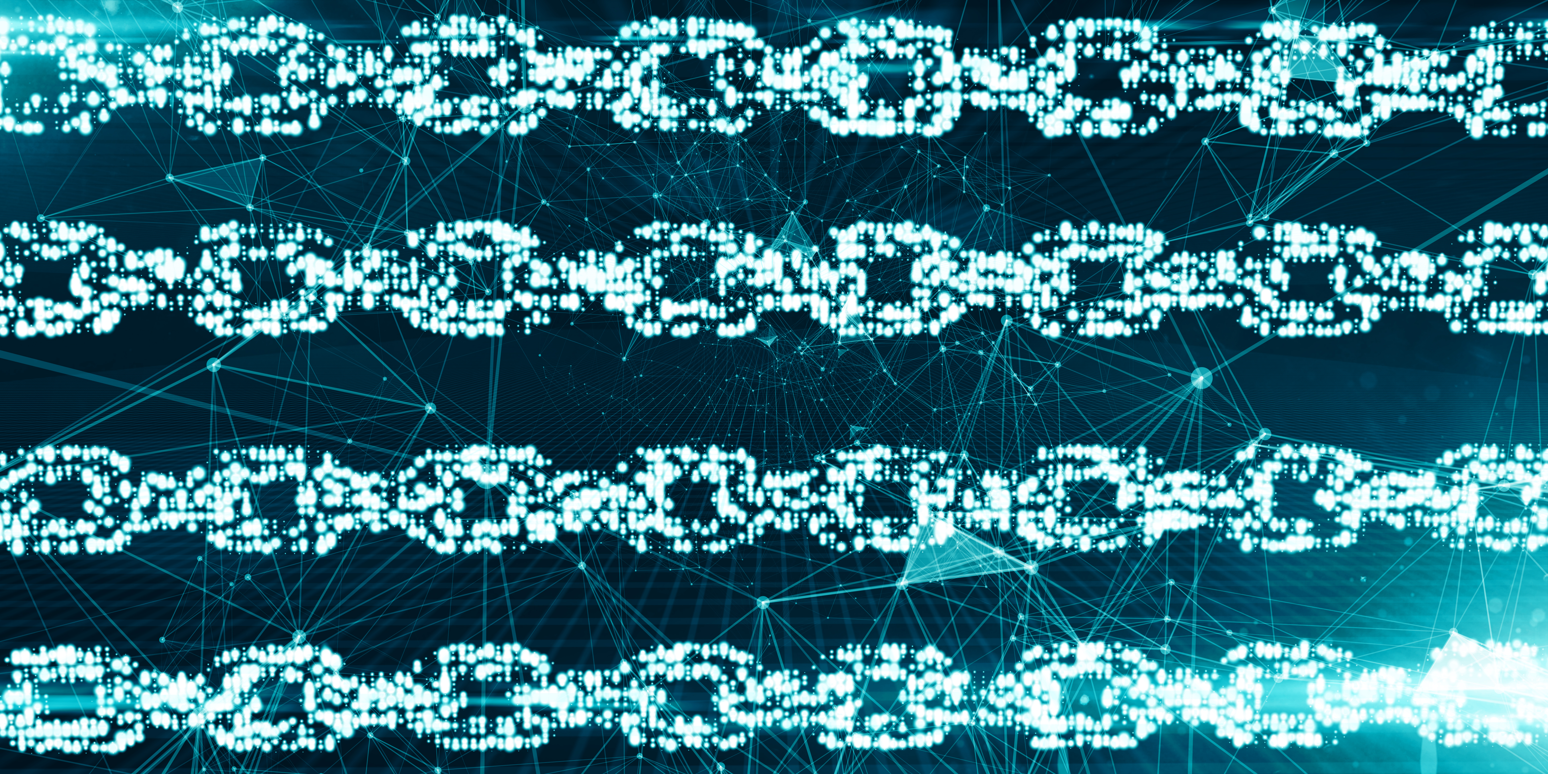 Stylized image of a network standing for blockchain encryption