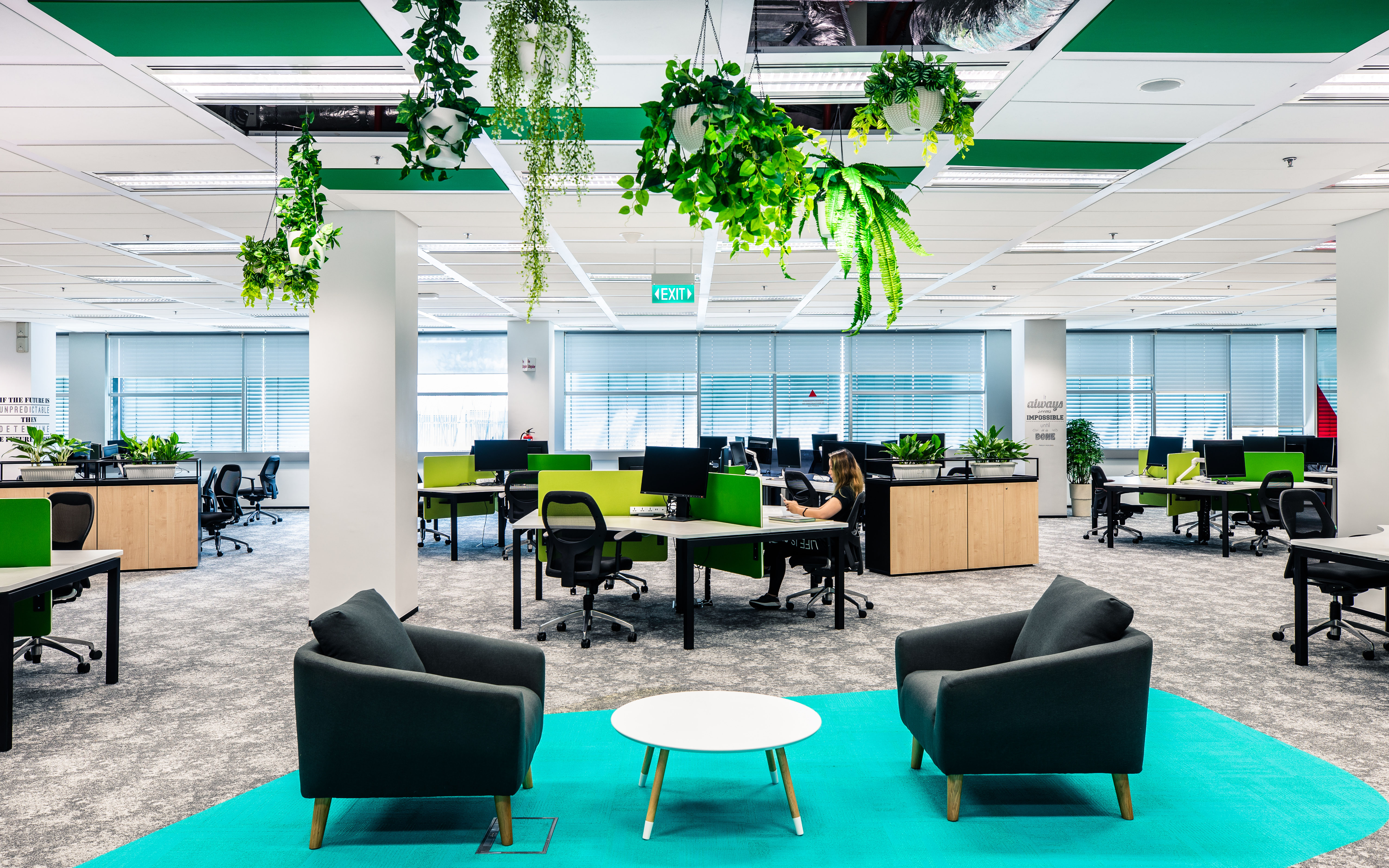 turquoise office Bosch Singapore campus