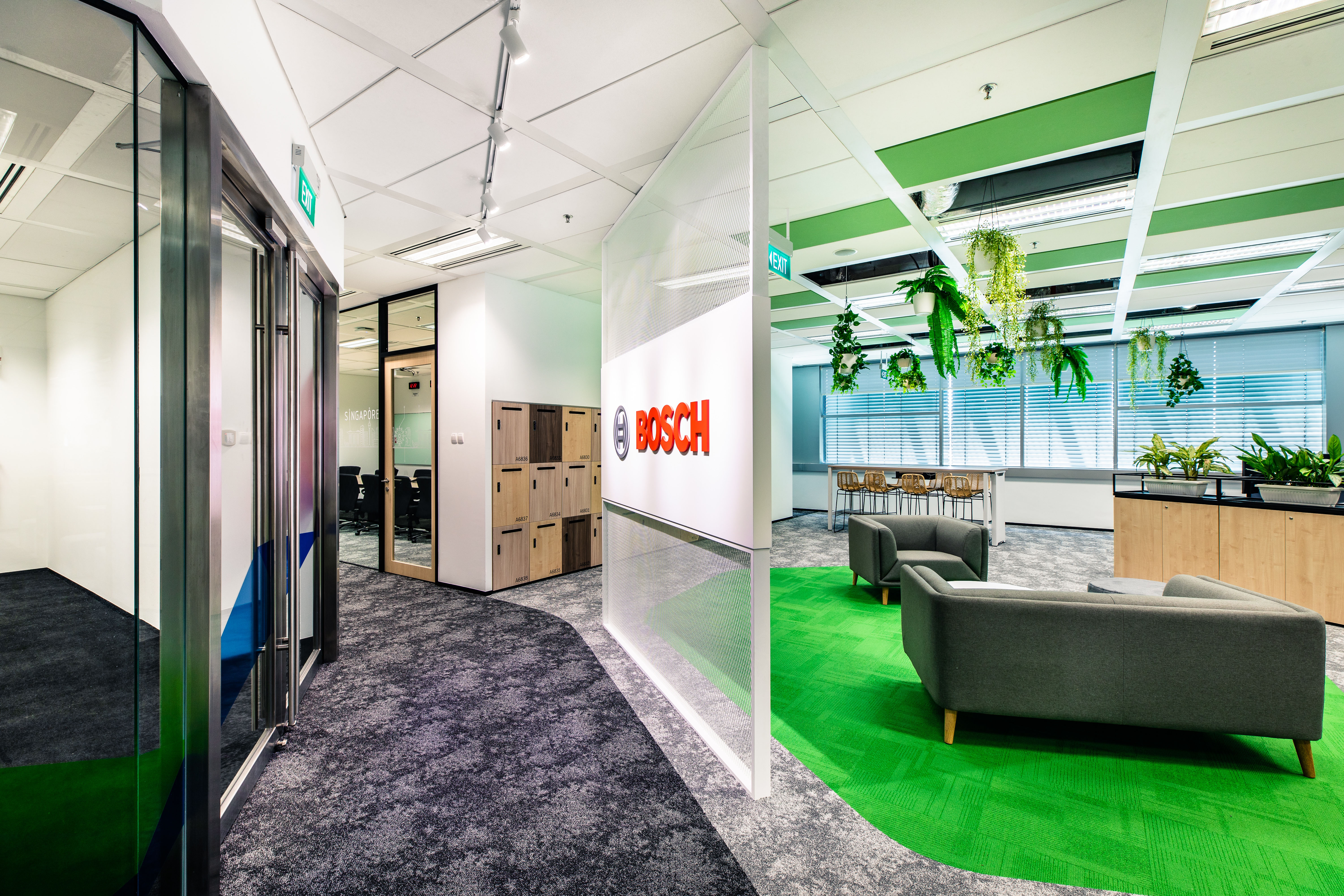 Green office Bosch Singapore campus