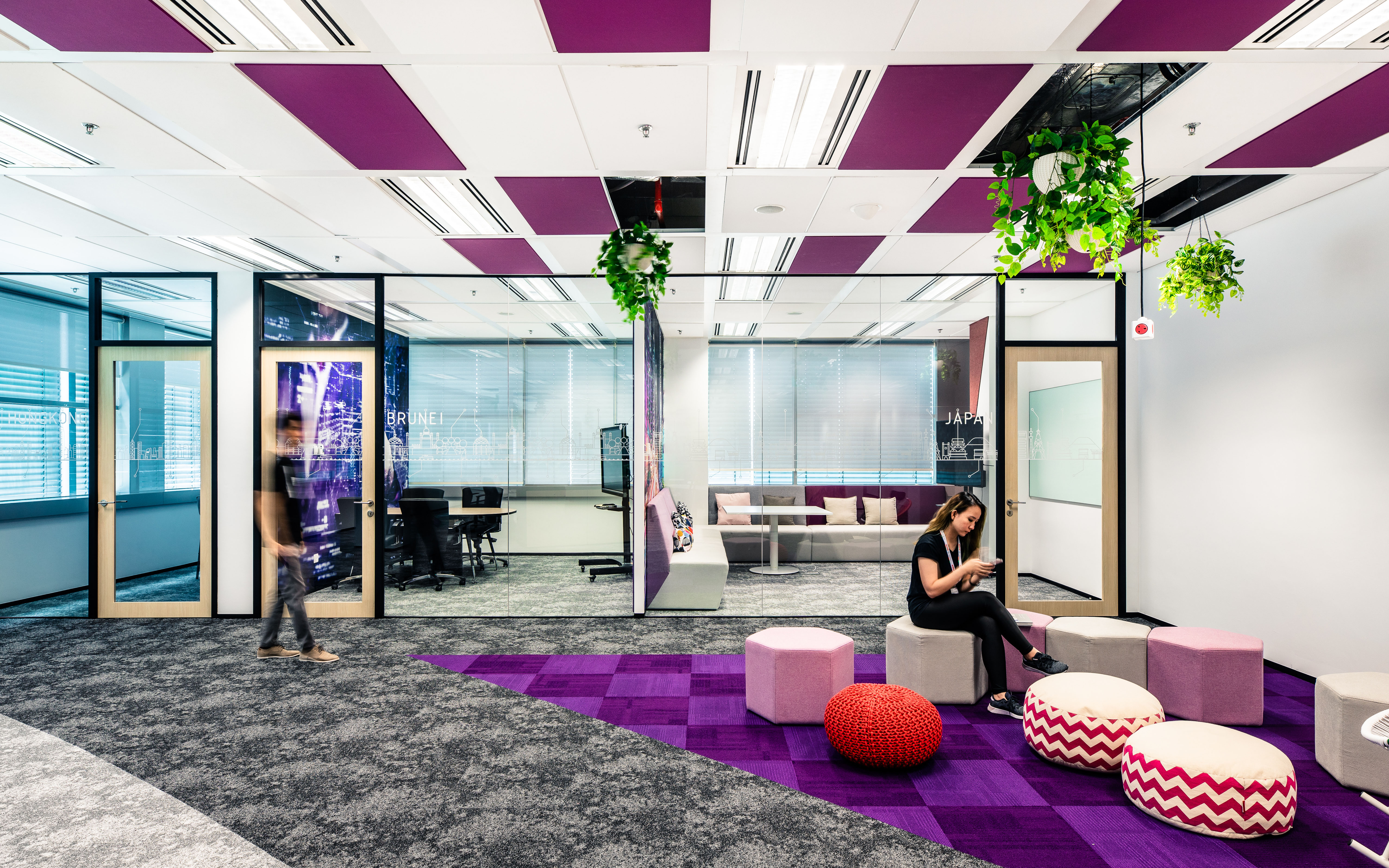 Violet office Bosch Singapore campus