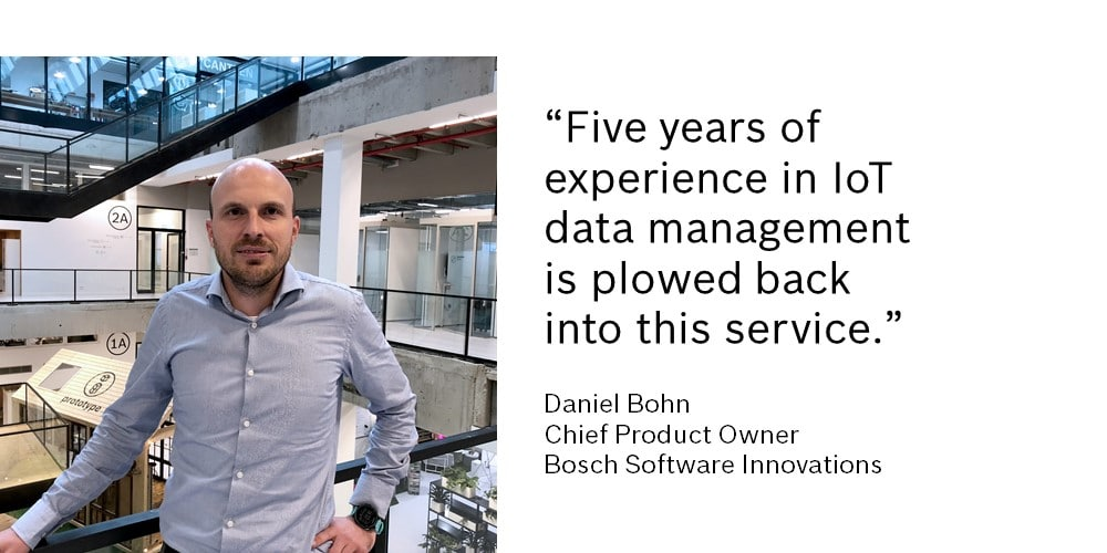 Bosch IoT Insights builds on five years of experience in IoT data management projects.