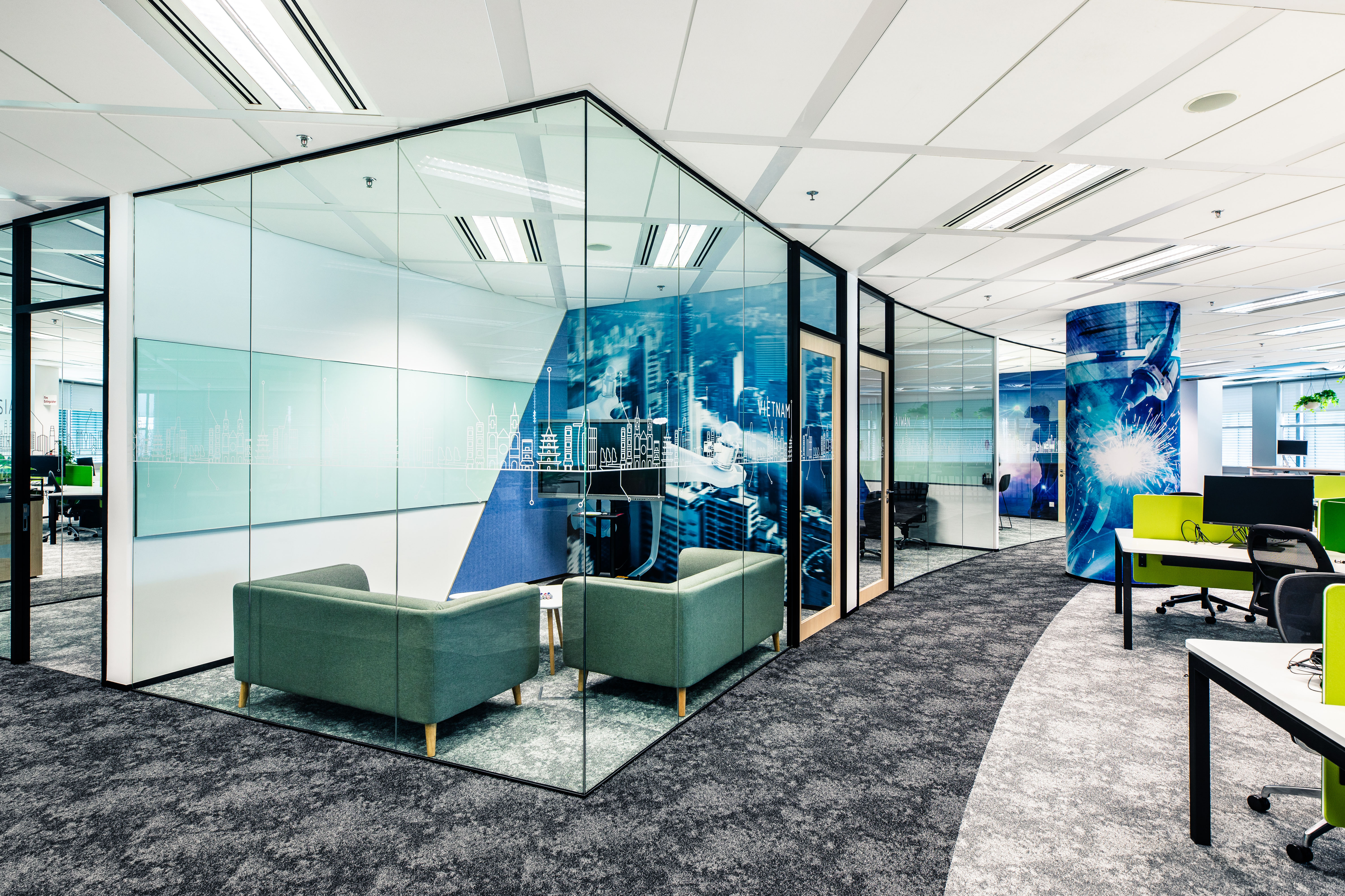 Photo of the new Bosch Singapore Campus office.