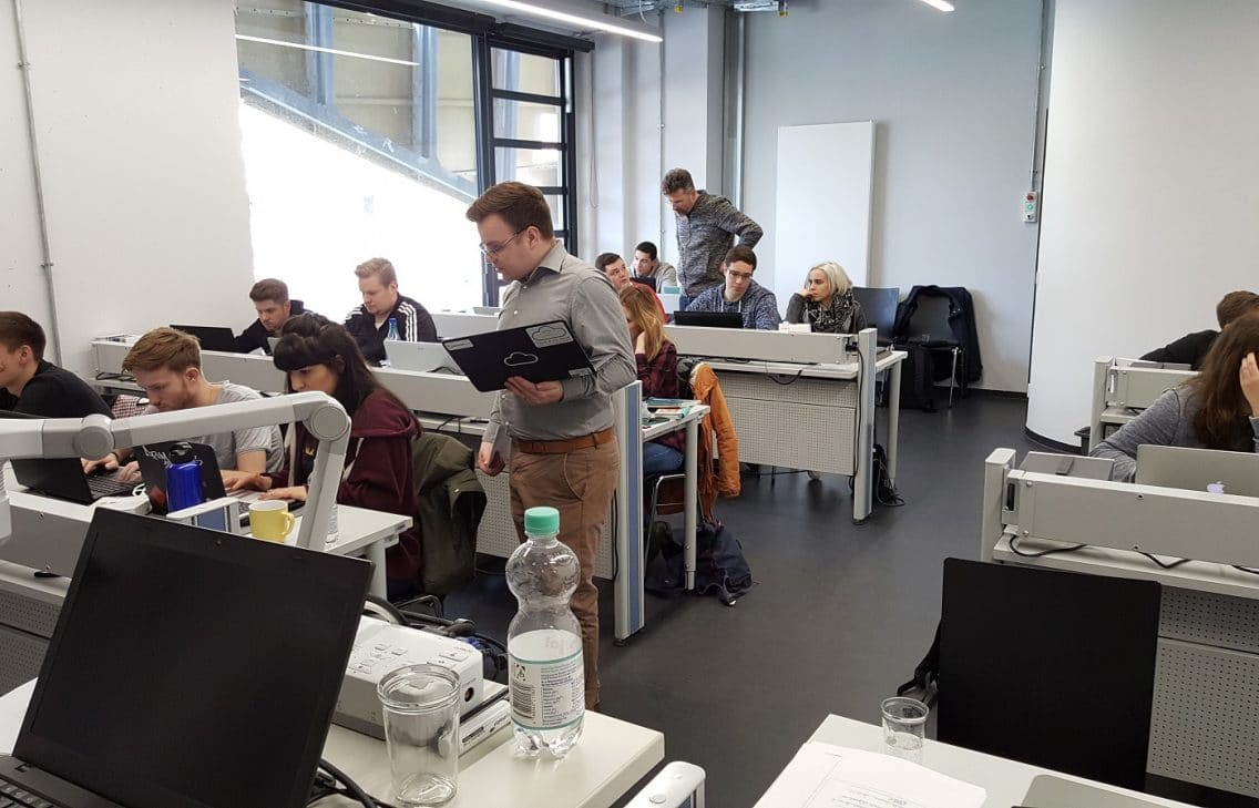 IoT students sitting in a classroom.