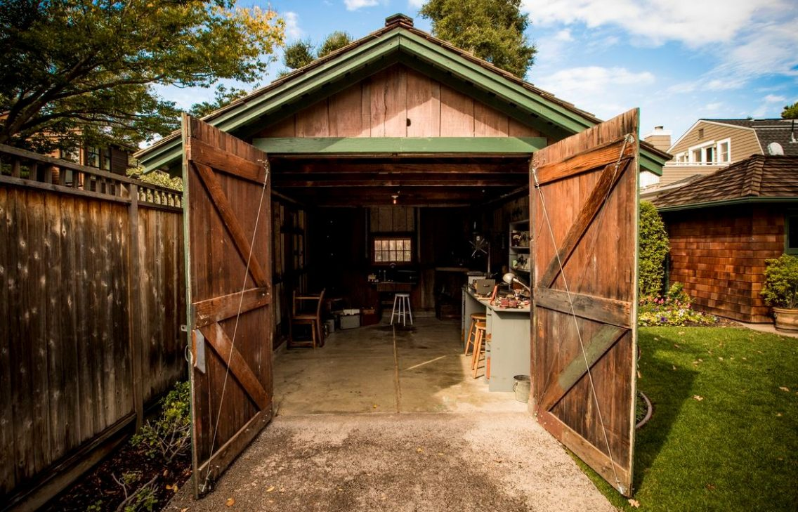 Look inside the garage of William Hewlett and David Packard.