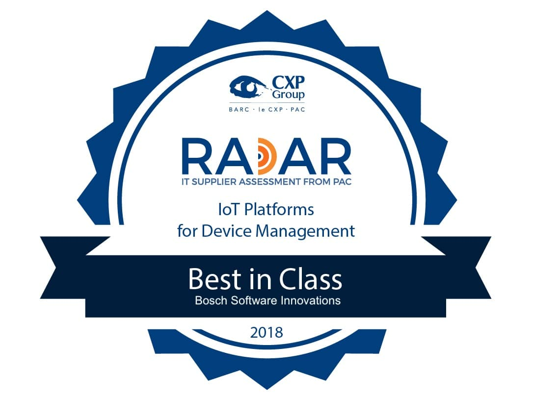 "PAC rates Bosch.IO (formerly Bosch Software Innovations) device management as ""Best in Class""."