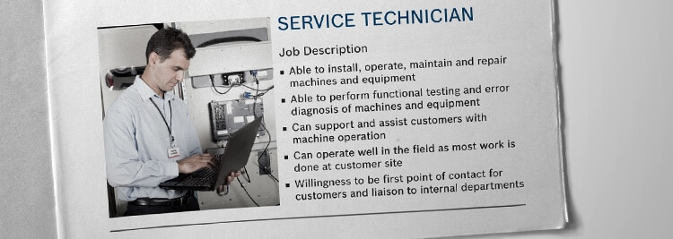 Sample job posting for a service technician