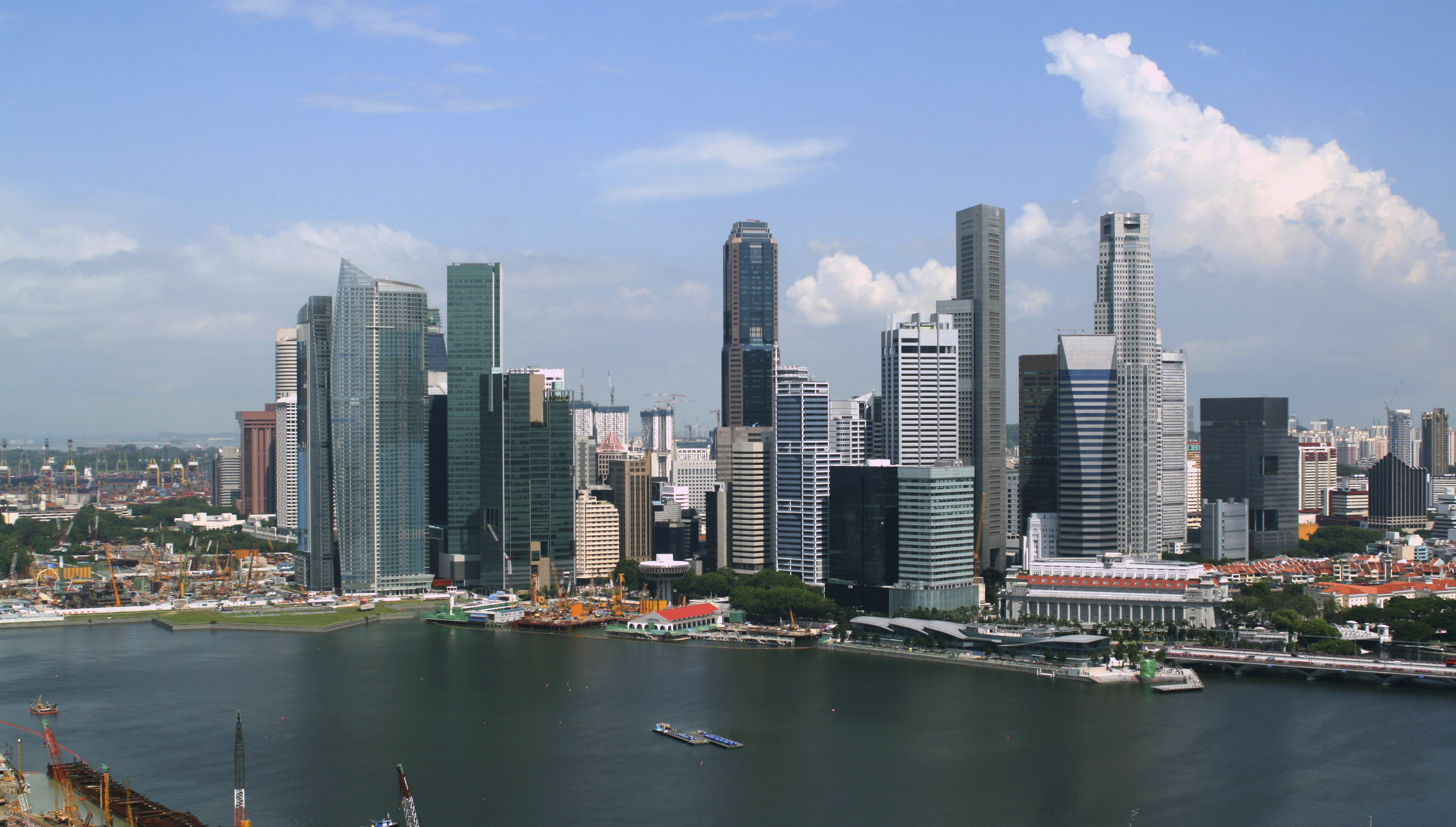 Digital transformation: The skyline of Singapore on a sunny day.