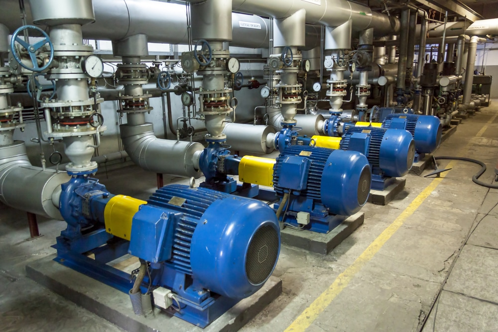 Photo of a cooling system standing on the shop floor.