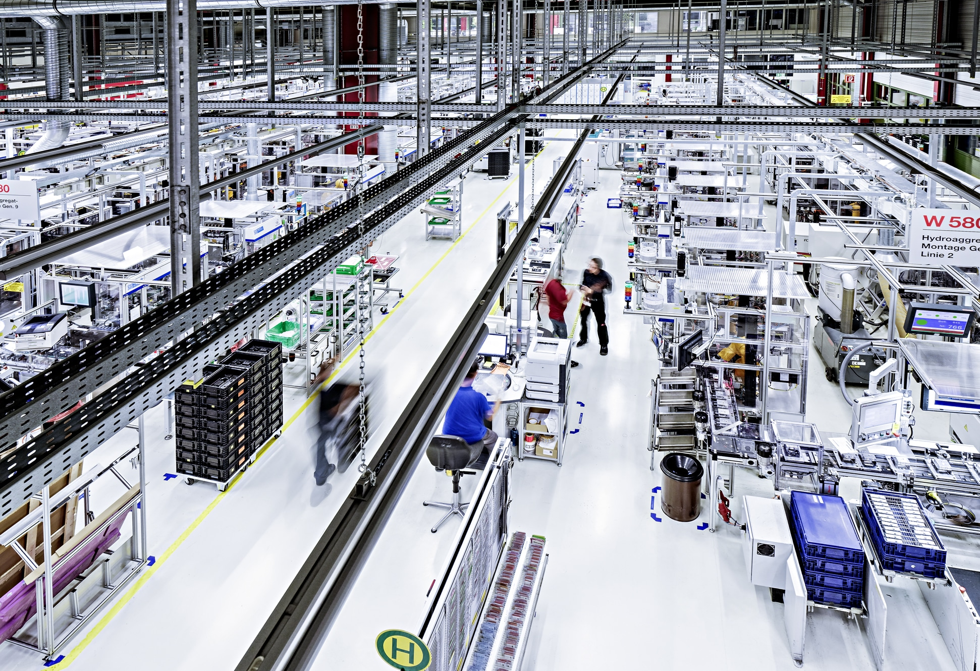 Industry 4.0 lean production in Bosch plant Blaichach
