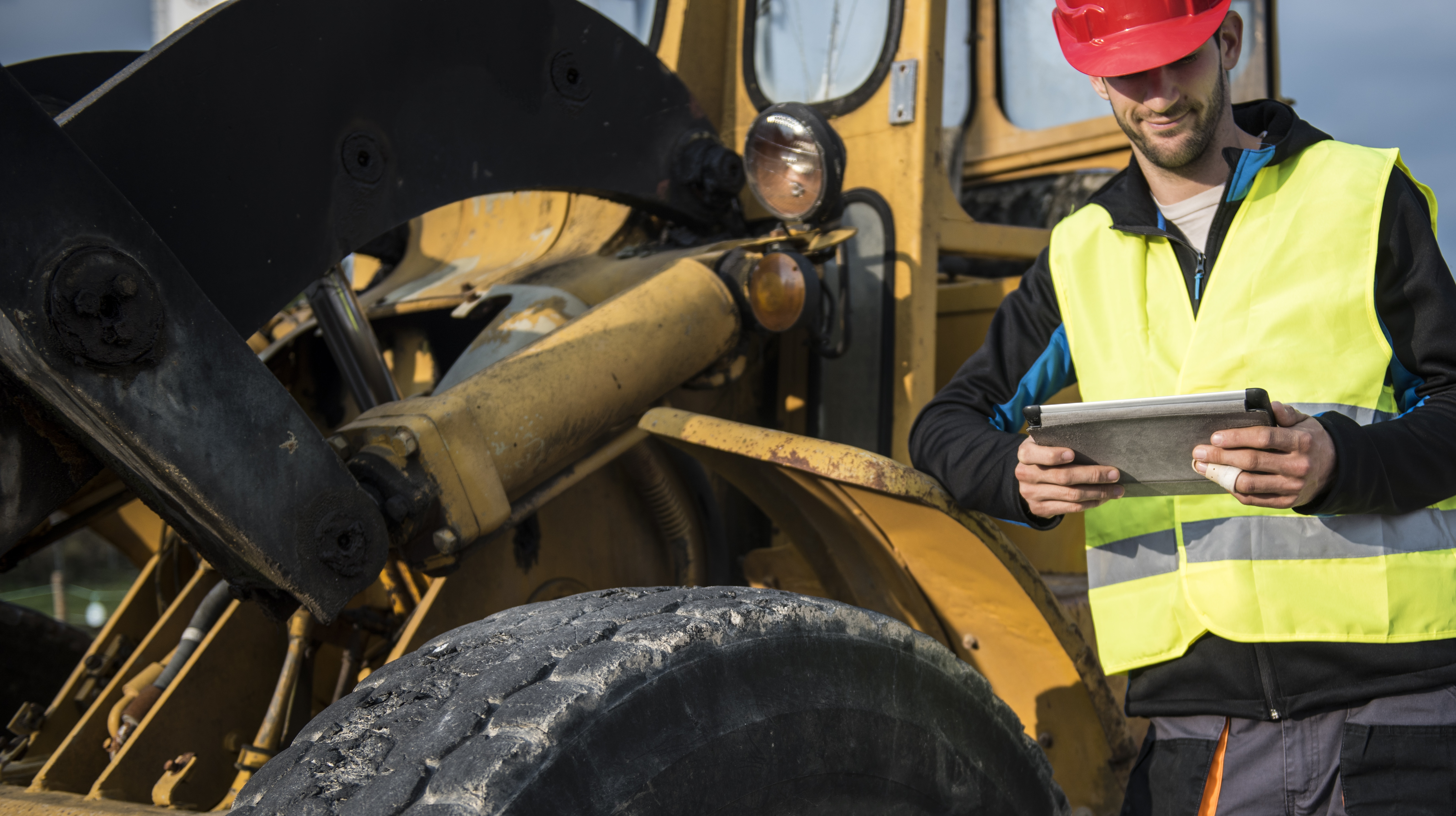 Earth Digger Driver with digital tablet