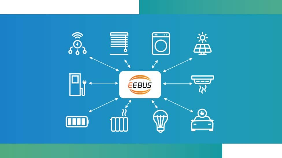 Graphic showing the EEBUS logo