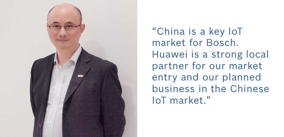 China is a key IoT market for Bosch. Huawei is a strong local partner for our market entry and our planned business in the Chinese IoT market.