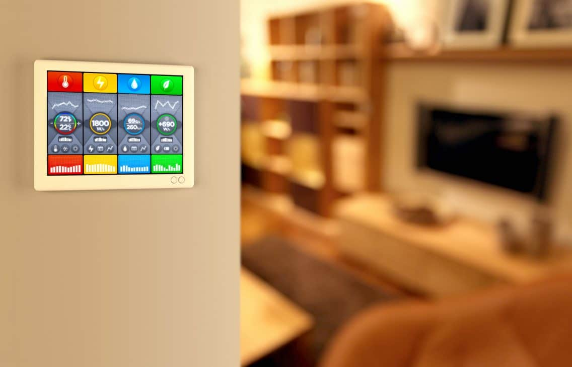smart home controlling display