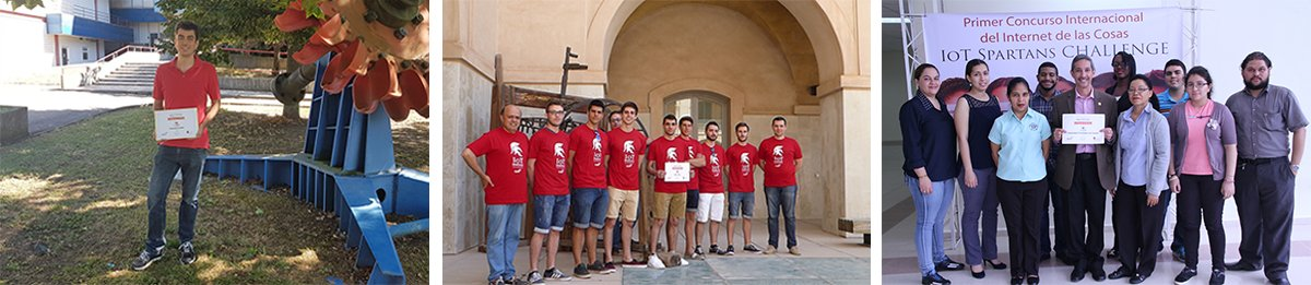 Iot students at IoT spartans challenge